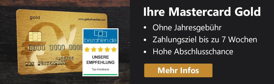 Mastercard Gold auf Bezahlen.de