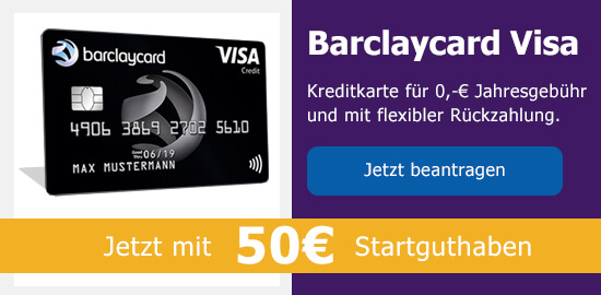 Barclaycard Visa auf Bezahlen.de